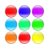 Colorful buttons isolated on white background set.  Royalty Free Stock Image