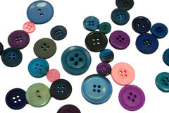 Colorful buttons on isolated white Royalty Free Stock Photos