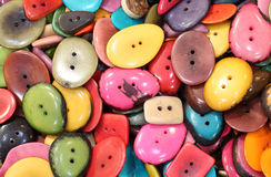 colorful buttons made with dried palm seeds in the ethnic shop Stock Photography