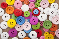 Colorful buttons. Many different colorful buttons to sew as a background Stock Image