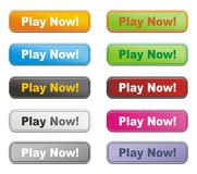 Colorful buttons - play now vector illustration