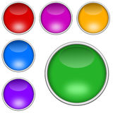 Colorful buttons set Royalty Free Stock Photography