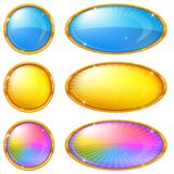 Colorful buttons, set Royalty Free Stock Image