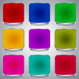 Colorful buttons set Stock Images