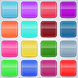 Colorful buttons set Stock Photography