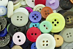 Colorful Buttons for Sewing Stock Photo