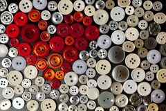 Colorful buttons in shape of heart Royalty Free Stock Photo