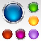 Colorful buttons and spheres. Royalty Free Stock Image