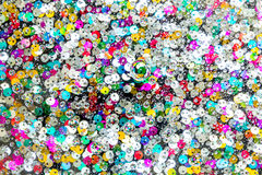 Colorful Buttons Under Water Drops Background Stock Photo