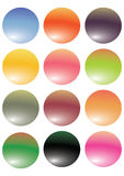 Colorful buttons vector. Vector color glassy buttons using to your web icons Stock Photos