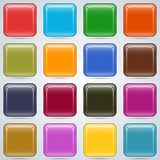 Colorful buttons vector set Royalty Free Stock Photo