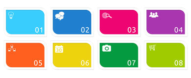 Colorful buttons for Web Stock Image