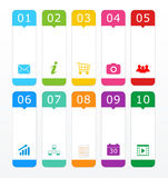 Colorful buttons for Web page menu Stock Image