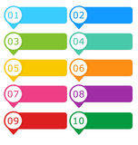 Colorful buttons for website Stock Image