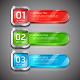 Colorful Buttons Website Number Options. Royalty Free Stock Photography