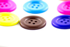 Colorful buttons  on white background. Stock Images
