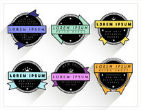 Colorful and BW Retro Badges. Editable Colorful and Black and white Retro Badges package Stock Photo