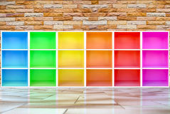 Colorful cabinets Stock Photos