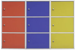 Colorful cabinets background. Stock Photos