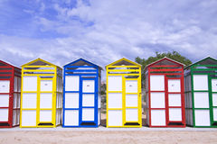 Colorful cabins Stock Photos