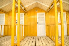 The colorful cabins of Versilia Royalty Free Stock Photos