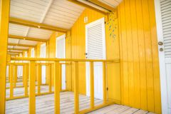 The colorful cabins of Versilia Royalty Free Stock Photo