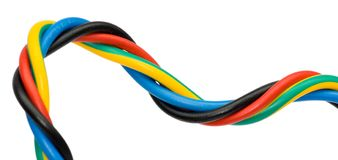 Colorful  cable Stock Images