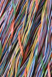 Colorful cable of computer and internet network. As background Royalty Free Stock Photo