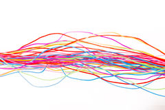 Colorful cable of computer and internet network Royalty Free Stock Photography