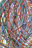 Colorful cable of computer network Royalty Free Stock Photos