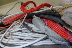 Colorful cable for networking Stock Photography