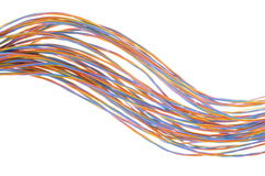Colorful cable of telecommunication network Stock Image
