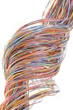 Colorful cable of telecommunication network Stock Photo