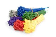 Colorful Cable Ties Stock Photography
