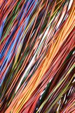 Colorful cable and wires of computer network. Colorful cable and wires of computer and internet network Royalty Free Stock Photo