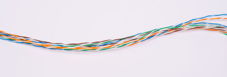 Colorful cable wires Stock Images