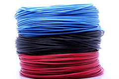 Colorful cables Stock Photography