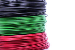 Colorful cables Stock Image