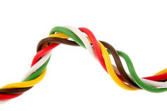 Colorful cabling. On white background Stock Image