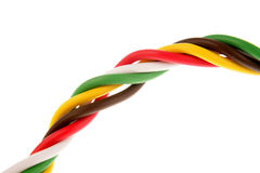 Colorful cabling Royalty Free Stock Image