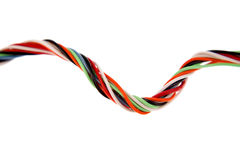 Colorful cabling Stock Image