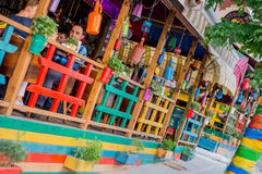 Colorful Cafe Royalty Free Stock Photography