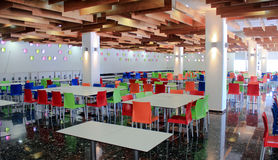 Colorful cafeteria. Modern cafeteria with colorful and stylish design royalty free stock photography
