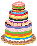 Colorful cake Stock Image