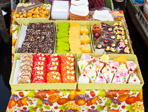 Colorful cake on the floating market Stock Photography