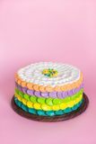 Colorful cake for kids party Stock Photos
