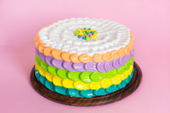 Colorful cake for kids party Stock Image