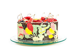 Colorful cake for kids party Royalty Free Stock Image