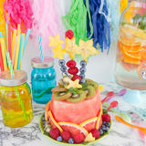Colorful cake made from fruits royalty free stock image