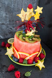Colorful cake made from fruits Royalty Free Stock Photo